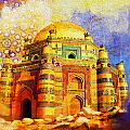 Mai Jwandi Tomb on Makli Hill Print by Catf