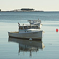 Maine Lobster Boats in Winter Poster by Keith Webber Jr