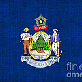 Maine State Flag Poster by Pixel Chimp
