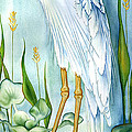 Majestic White Heron Poster by Lyse Anthony