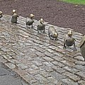 Make way for ducklings Print by Barbara McDevitt