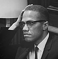 Malcolm X 1964 Poster by Mountain Dreams
