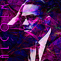 Malcolm X 20140105m88 with text Print by Wingsdomain Art and Photography