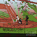 Man at Bat Print by Terry Weaver