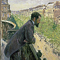 Man on a Balcony Print by Gustave Caillebotte