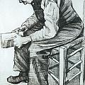 Man Reading the Bible Print by Vincent van Gogh