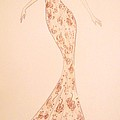 Mandarin Damask Gown Poster by Christine Corretti