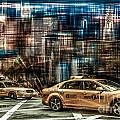 Manhattan - Yellow Cabs - future Poster by Hannes Cmarits
