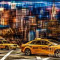 Manhattan - Yellow Cabs I Poster by Hannes Cmarits