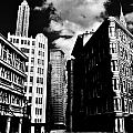 Manhattan Highlights B W Poster by Benjamin Yeager