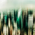 manhattan panorama abstract Poster by Hannes Cmarits