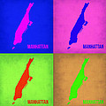 Manhattan Pop Art Map 1 Poster by Irina  March