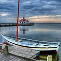 Manteo Waterfront 2 Print by Mel Steinhauer