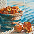 Many Blind Peaches Print by Jani Freimann