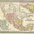 Map of Mexico Print by Gary Grayson