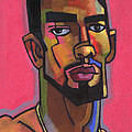 Marco with Gold Chain Print by Douglas Simonson