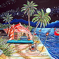 Margaritaville Conch Christmas Print by Abigail White