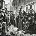 Martin Luther 1483 1546 Publicly Burning the Pope's Bull in 1521  Poster by English School