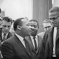 Martin Luther King Jnr 1929-1968 and Malcolm X Malcolm Little - 1925-1965 Print by Marion S Trikoskor