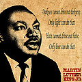 Martin Luther King Jr 1 Poster by Andrew Fare