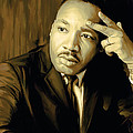 Martin Luther King Jr Artwork Print by Sheraz A
