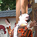 Maryland Renaissance Festival - Johnny Fox Sword Swallower - 121217 Print by DC Photographer