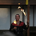 Maryland Renaissance Festival - Johnny Fox Sword Swallower - 121285 Poster by DC Photographer