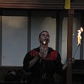 Maryland Renaissance Festival - Johnny Fox Sword Swallower - 121299 Print by DC Photographer
