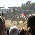 Maryland Renaissance Festival - Jousting and Sword Fighting - 1212203 Poster by DC Photographer