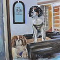Mascots of The Inn Poster by Donna Tuten