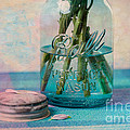 Mason Jar Vase Print by Kay Pickens