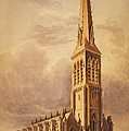 Masonry church circa 1850 Print by Aged Pixel