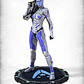 Mass Effect - Asari Alliance Soldier Print by Frederico Borges