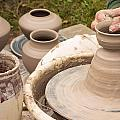 Master Potter Shaping Clay Poster by Dancasan Photography