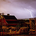 McIntosh Farm Lightning Thunderstorm Print by James BO  Insogna