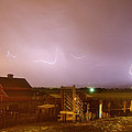 McIntosh Farm Lightning Thunderstorm View Poster by James BO  Insogna
