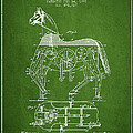 Mechanical Horse Patent Drawing From 1893 - Green Print by Aged Pixel