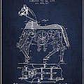 Mechanical Horse Patent Drawing From 1893 - Navy Blue Print by Aged Pixel