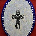 Medallion with Cross Print by Fabiola Rodriguez