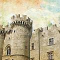 Medieval City of Rhodes Print by Catf