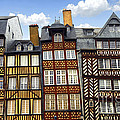 Medieval houses in Rennes by Elena Elisseeva