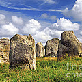 Megalithic monuments in Brittany Print by Elena Elisseeva