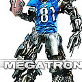 Megatron-Calvin Johnson Poster by Peter Chilelli