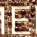 Men Vintage PadLocks Sign Print by Artist and Photographer Laura Wrede