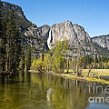 Merced River and Yosemite Falls Poster by Jane Rix