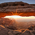 Mesa Arch Morning Print by Andrew Soundarajan