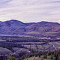 Methow River Valley via Sun Mtn Lodge Poster by Omaste Witkowski