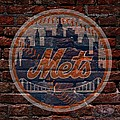 Mets Baseball Graffiti on Brick  Print by Movie Poster Prints