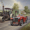 MG sports car. Print by Mike  Jeffries