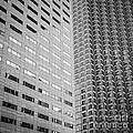 Miami Architecture Detail 2 - Black and White - Square Crop Print by Ian Monk
